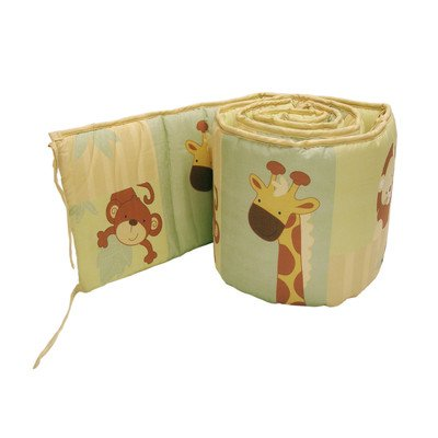 Little Bedding Traditional Padded Bumper, Safari Kids front-3421