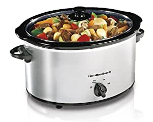 Hamilton Beach 5 Quart Classic Chrome Slow Cooker