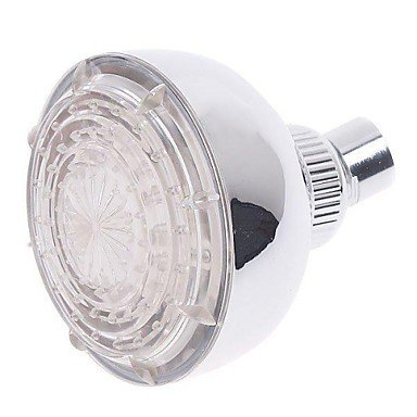 Ddl 3 Colors Changing Water Glow Powered Temperature Sensor Led Light Shower Head Water Sprinkler For Bath