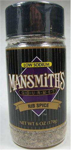 Mansmith's Gourmet Low Sodium Rib Spice 6 Ounce (Gourmet,Mansmith's,Gourmet Food,Seasonings, Herbs & Spices,Mixed Spices & Seasonings,BBQ & Grill Seasoning)