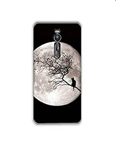 Asus Zenfone 2 Laser nkt01 (93) Mobile Case from Mott2 - Full Moon Night with... (Limited Time Offers,Please Check the Details Below)
