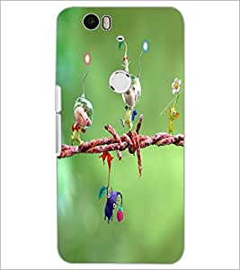 PrintDhaba Cartoon D-3329 Back Case Cover for HUAWEI NEXUS 6P (Multi-Coloured)