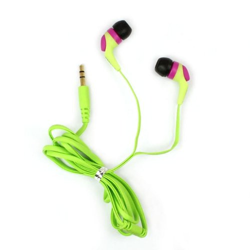 Aokdis (Tm) Brand New Soft Keeka In-Ear Earphone Headphone For Iphone/Ipod/Ipad/Mp3/Pc/Tablet Pc (Green)