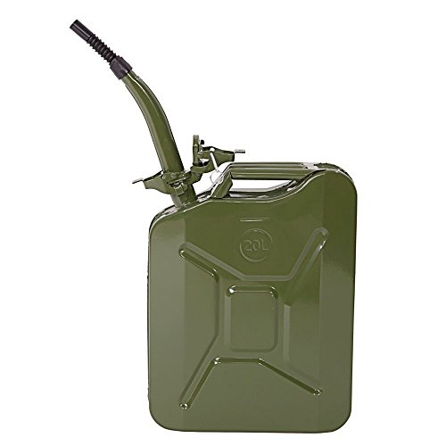 Valuebox 20L 5 Gal Jerry Gas Can Fuel Caddy Storage Tank Gasoline Emergency Backup,Jerry Can (Army Green) (Jerry Cans Gasoline compare prices)