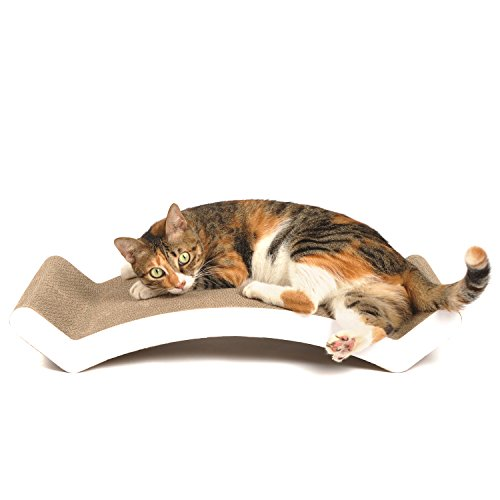 4claws scratching lounge bed white basics collection cat scratcher cat my love - Cat bed scratcher ...