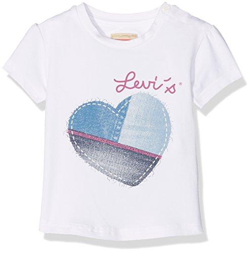 Levi's N91076A, T-Shirt Bimbo, Bianco, 3-6 Mesi
