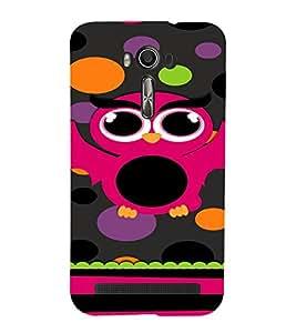 PrintVisa Cute Girly Owl Design 3D Hard Polycarbonate Designer Back Case Cover for Asus Zenfone 2 Laser ZE500KL