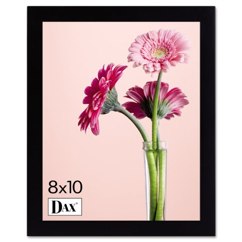 DAX 1826L3T Solid Wood Photo/Picture Frame, Easel Back, 8 x 10 Inches, Black