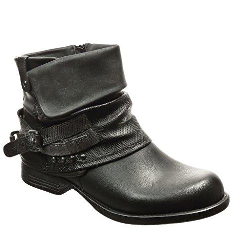 angkorly-chaussure-mode-bottine-motard-cavalier-femme-peau-de-serpent-laniere-cloute-talon-bloc-3-cm
