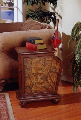Image of Fairfax Home Furnishings Door Front Magazine Holding End Table (B003KZ5WBY)