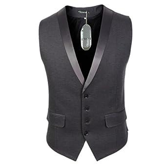 Zicac Men's Gentleman Top Design Casual Waistcoat Business Suit Vest
