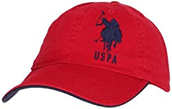 U.S. Polo Assn. Men's Solid Horse Adjustable Hat, Red, One Size