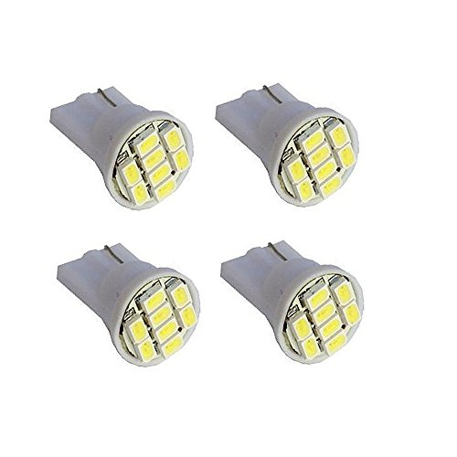 Hamist 8-Smd T10 12V Light Led Replacement Bulbs 168 194 2825 W5W White (Pack Of 4)