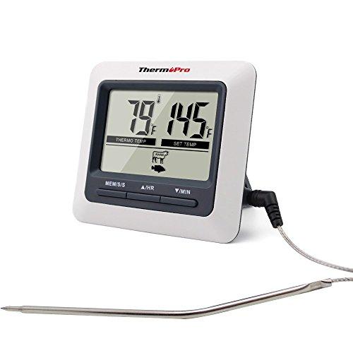 ThermoPro TP-04 Thermomètre de cuisine numérique pour Viande Barbecue Four