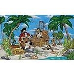 (99×164) Pirates Burying Treasure Huge Wall Mural