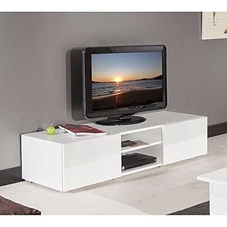 Lime-Mueble TV 140cm puertas lacadas (color blanco