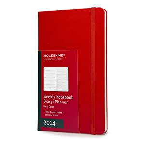2014 Moleskine Red Large Weekly Notebook 12 Month Hard (Moleskine Diaries)