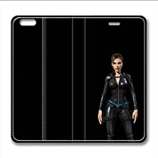 buy Iphone 6 6S Leather Case Pu Material Hard Shell Flip Credit Card Holder Magnetic Stand Video Game Logo Poster Pattern Character Screen Adventure Fighting-Tomb Raider Lara Croft