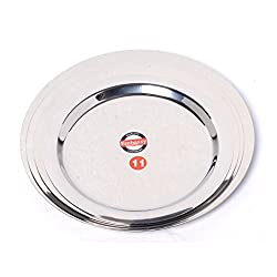 Embassy Stainless Steel Ciba Tope Lid, Set of 4 (Medium Sizes 11-14; 18.3, 20, 21.3, 22.8 cms)