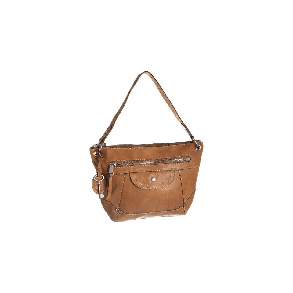 7f1cd49d8fadd Fossil LIBERTY Braun Damen Handtasche Tasche Henkeltasche Leder Glattleder  Schuhe   Handtaschen