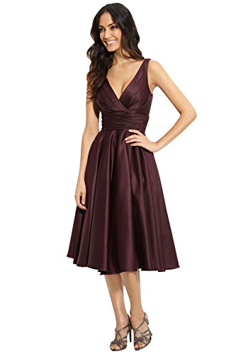 3d5607cc59beb ML Monique Lhuillier Bridesmaids Fit & Flare Satin Cocktail Dress