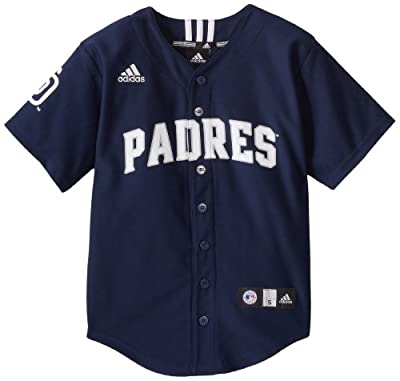 MLB San Diego Padres Boy's Screen Printed Team Color Baseball Jersey