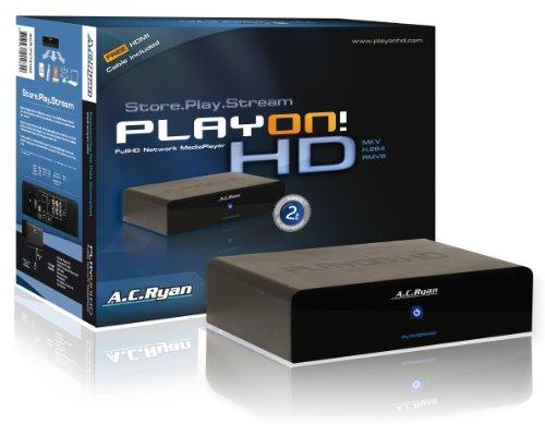 AC Ryan - ACR-PV73100 - Playon - Lecteur multimédia réseau Full HD avec disque dur 2 To (Import Allemagne)