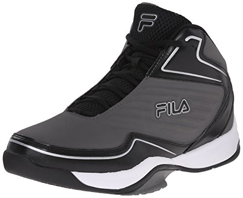 Fila Men's Import-M Basketball Shoe, Pewter/Black/Metallic Silver, 10.5 M US