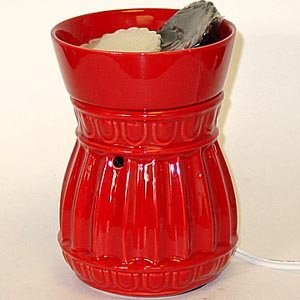 Big Bowl Electric Tart Burner - Red Columns