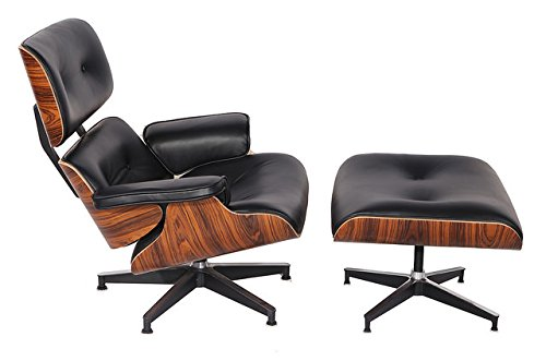 mlf plywood eames lounge chair u0026 ottoman in premium top aniline leather palisander - Stressless Chair