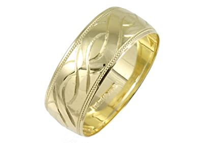 9ct 8mm Celtic Design Yellow Gold Wedding Ring