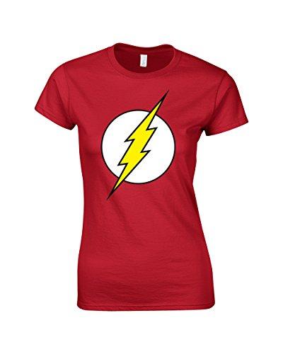 DC Comics-The Flash-Maglia a maniche corte, da donna rosso Rosso