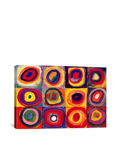 """Wassily Kandinsky Squares With Concentric Circles Gallery Wrapped Canvas Print, Multi, 40"""" x 60..."""