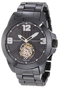 Stuhrling Original Men's 153.33OB1 Tourbillon Phantom Mechanical Black Ceramic Bracelet Watch