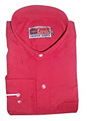 Lords Wear Men's Formal Shirt (LordsWear_Red2_44)