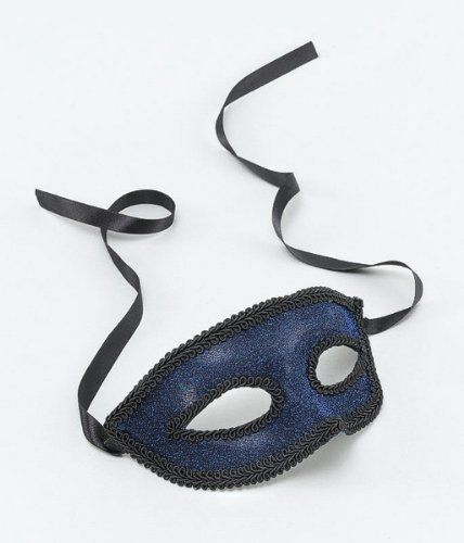 Deep Blue Eye Mask With Ribbon Ties
