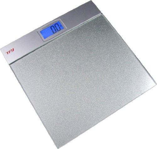 tfy tempered glass digital bathroom scale backlit lcd display 400 lb