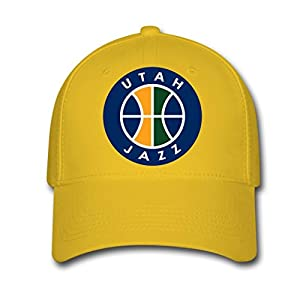 EOSOONE Utah Jazz logo Design Baseball Caps adjustable hatsYellow