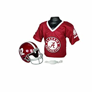 Franklin Sports NCAA Alabama Crimson Tide Youth Helmet and Jersey Set