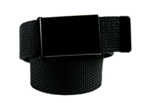 Build A Belt Boys School Uniform Black Belt Buckle with Canvas Web Belt Small Black