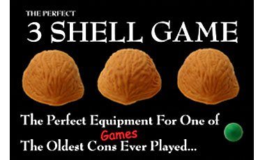 The Perfect Three Shell Game - The Perfect Equipment for One of the Oldest Con Games Ever Played! Magic Trick