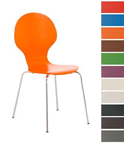 CLP-Stapel-Stuhl-DIEGO-mit-Holzsitz-robust-pflegeleicht-ergonomisch-geformter-Sitzflche-bis-zu-12-Farben-whlbar-orange