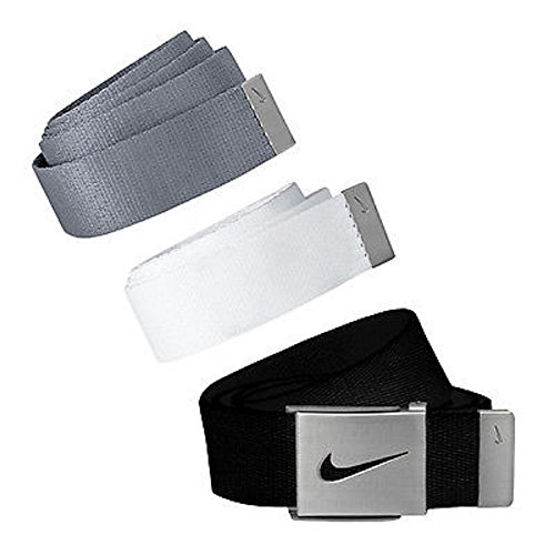 Nike Men's 3 in 1 Web Pack, Black/White/Grey, One Size (Nike Bottle Opener Belt compare prices)