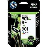 HP 901XL Black /HP 901 Tricolor Ink Cartridge Pack, in Retail Packaging (CC65...