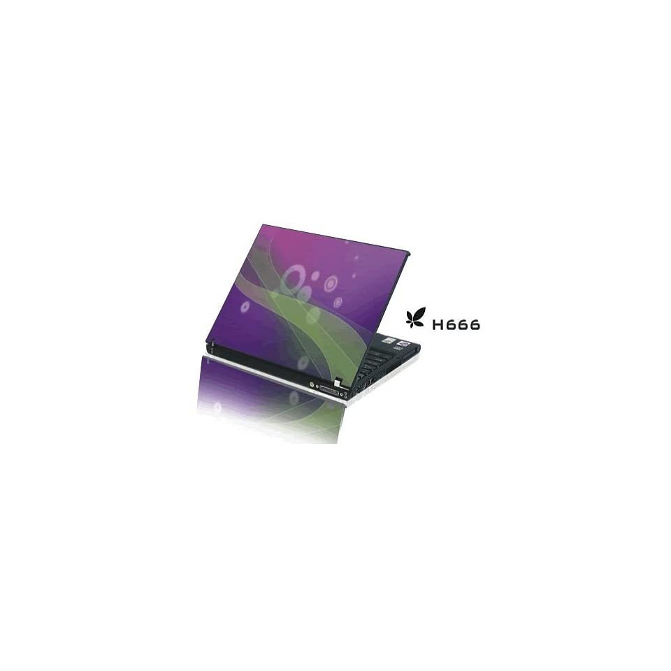 15.4 Laptop Notebook Skins Sticker Cover H666 Purple Decal (Brand New with 2 FREE touch pad decals)