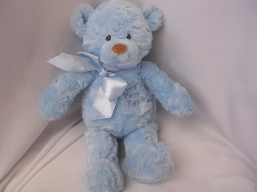 Baby Boy Blue Teddy Bear Plush Toy Large Soft