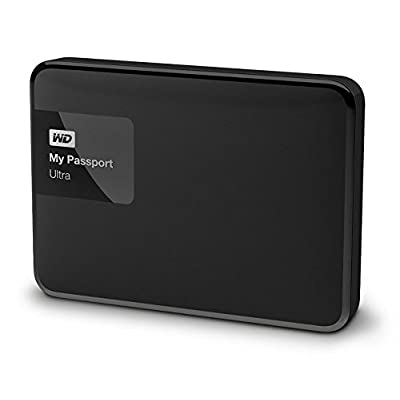 WD My Passport Ultra 1TB Portable External Hard Drive (Black)-WDBGPU0010BBK-EESN