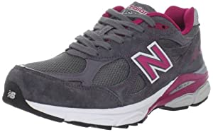 New Balance Women's W990 Running Shoe,Grey/Pink,8.5 D US