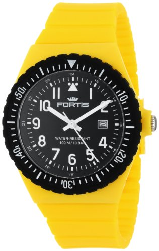 Fortis Colors C 704.04 Yellow Silicone Pop-Out Watch
