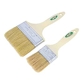 Dimart Painter Plastic Handle Nylon Bristle Oil Painting Brushes 2 Pcs
